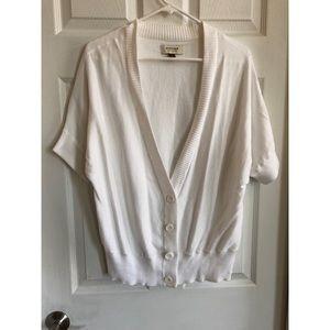 Sonoma white short sleeve cardigan